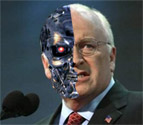 Dick Cheney built from the same materials as the space ships.
